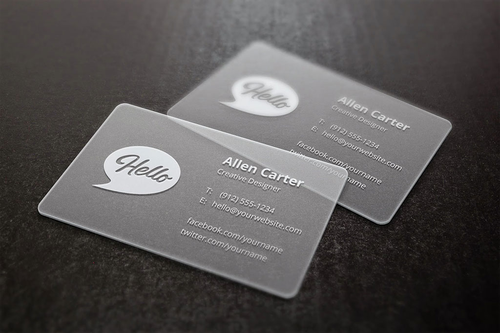 Frosted Plastic Cards