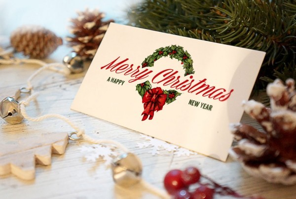 Christmas Greeting Card Mockup | Printing New York