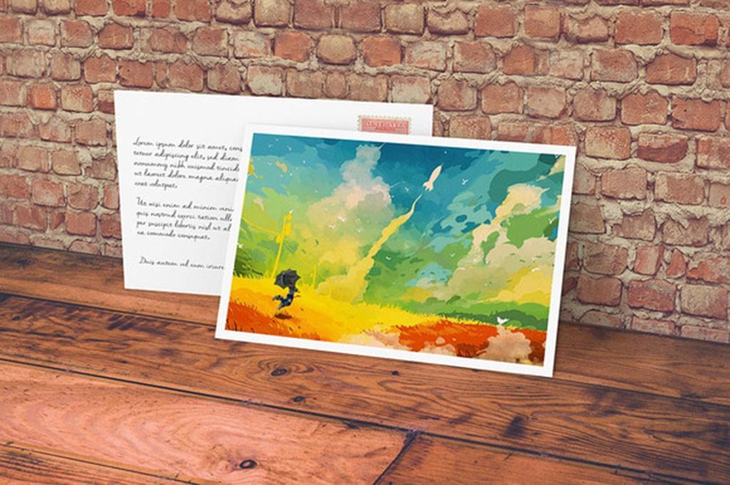 Postcards with spot UV