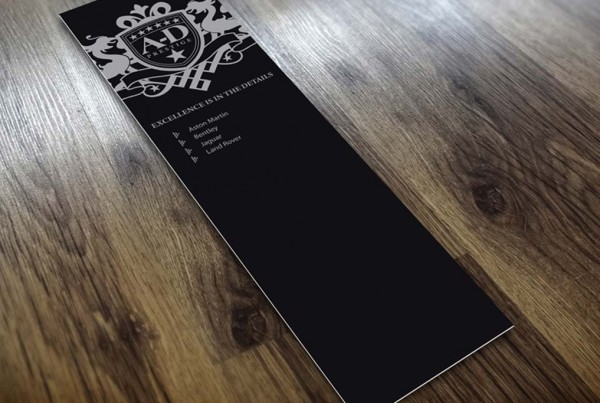 Spot UV Bookmarks from