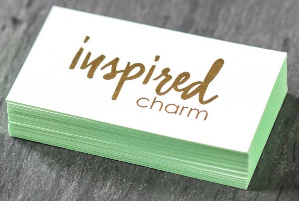 Uncoated Business Cards w/ Stamped Foil from