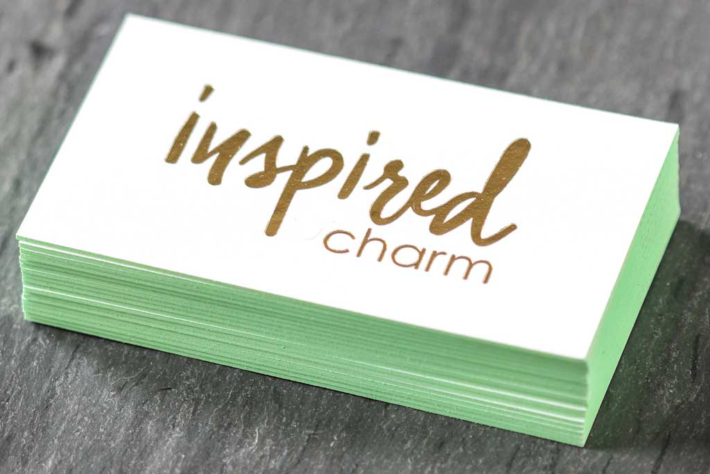 Uncoated Business Cards with Stamped Foil | Printing New York