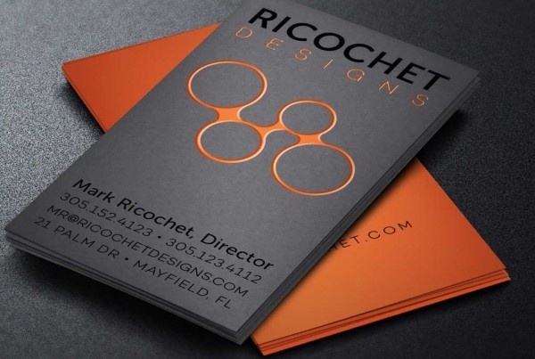 Uncoated Business Cards from