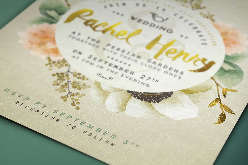 Glossy UV Coated Invitations
