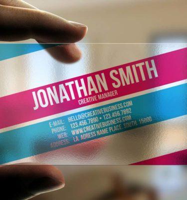 Transparent Plastic Cards | Printing New York