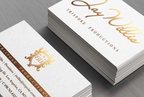 Silk Laminated Business Cards w/ Stamped Foil from 0