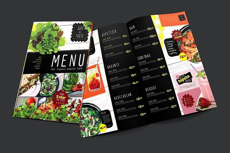 Folded Menu | Printing New York