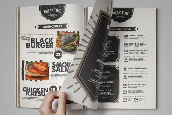 Menu Printing | Header | Printing New York
