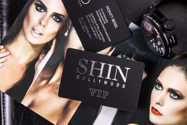Plastic Business Cards | Shin Hollywood | Printing New York