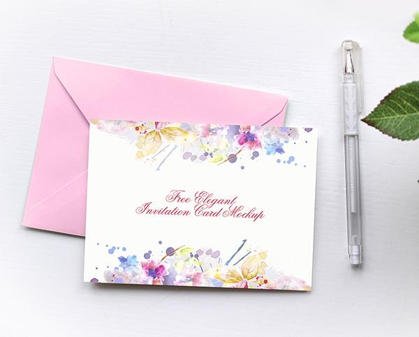 Free Elegant Invitation Card Mockup