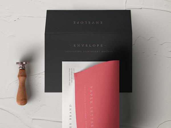 Psd Invitation Envelope Mockup