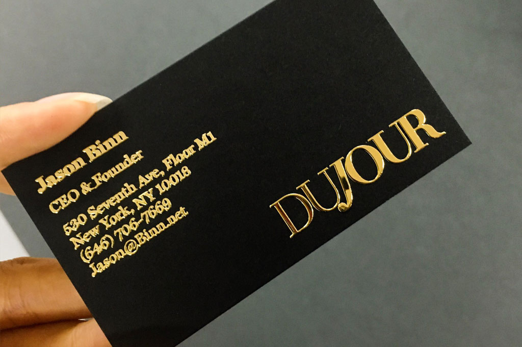 Raised Foil Business Cards Printing New York 4