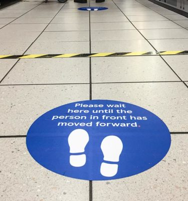 Social Distancing Floor Stickers 1
