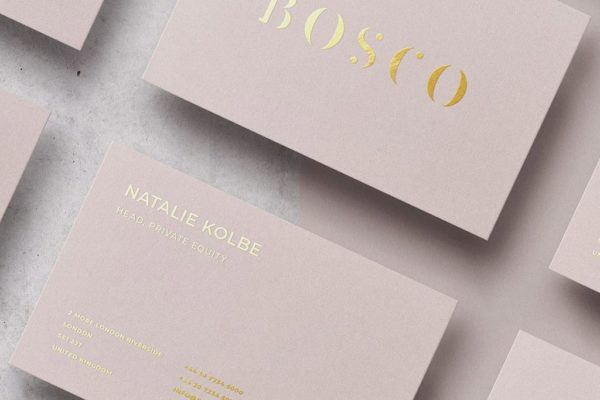 Uncoated Business Cards with Stamped Foil